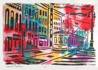 Canal Streetcar Print by Byron Levy