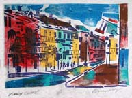 Vieux Carre Print by Byron Levy